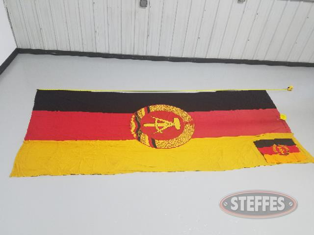 Large & small East German Wall banners