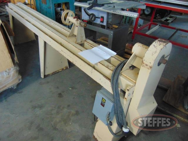 Steel lathe, 10', 2 hp., 3 phase