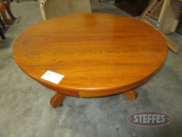 Round Wood Coffee Table 18.5- tall x 42- diameter_1.JPG