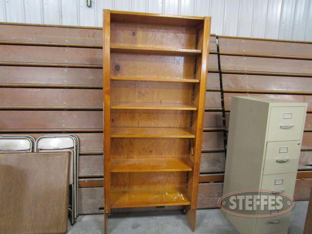 Wood Bookshelf 78.25- tall x 34.25- wide x 12.75- deep_1.JPG