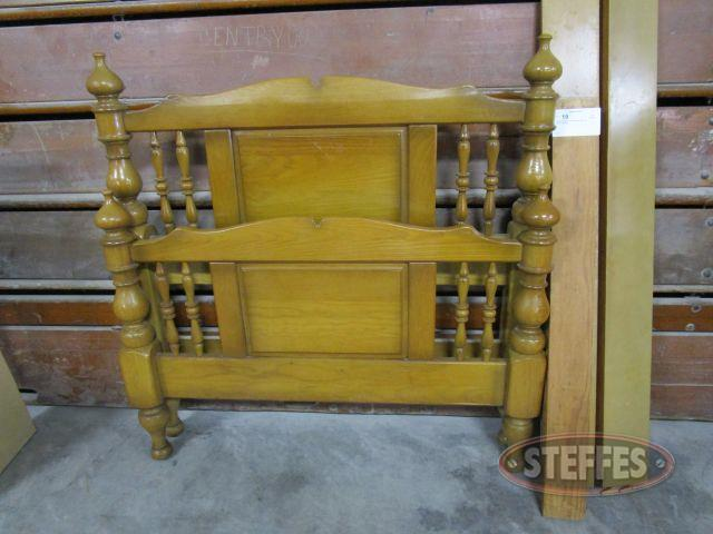 Wood Headboard, Footboard, - Side rails for twin size bed_1.JPG