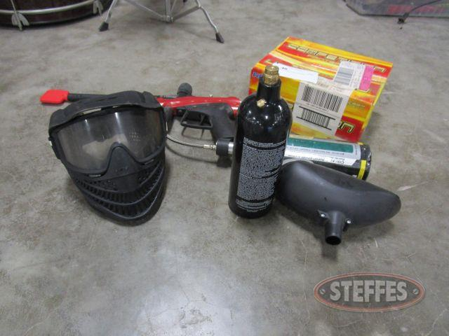 Paint Ball Gun, Mask, - Box of Paintballs_1.JPG