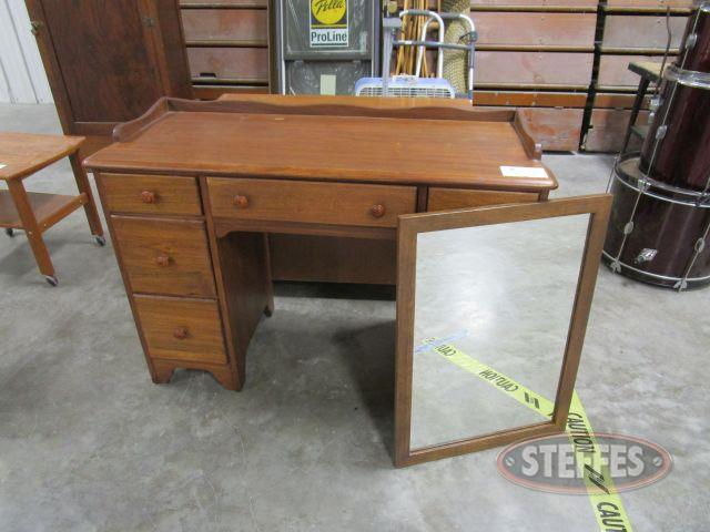 Desk, Bookshelf, - Mirror Desk 33- tall x 43- wide x 18.5- deep, Bookshelf 29.5- tall x 36- wide x 10.5- deep, Mirror 28.5- x 20.5-_1.JPG