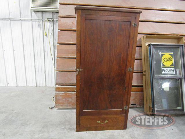 Wood Gun Cabinet 61- tall x 28- wide x 16- deep_1.JPG