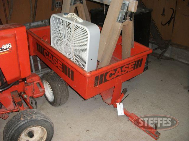 Case Pull Behind Garden Cart, Saw Horses, & Fan