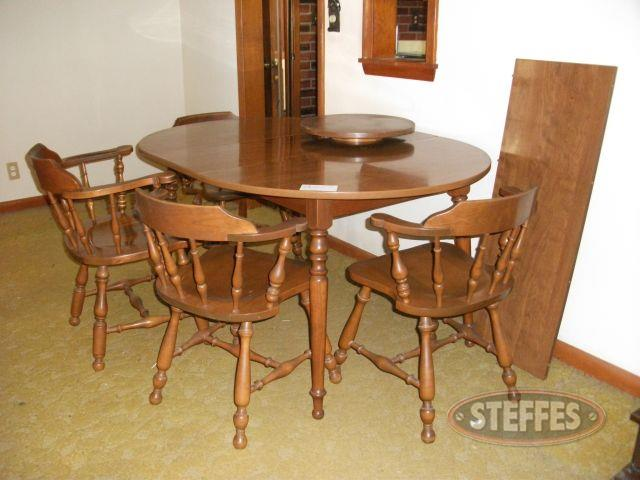 Kitchen Table, 4 Chairs, - Lazy Susan_2.jpg