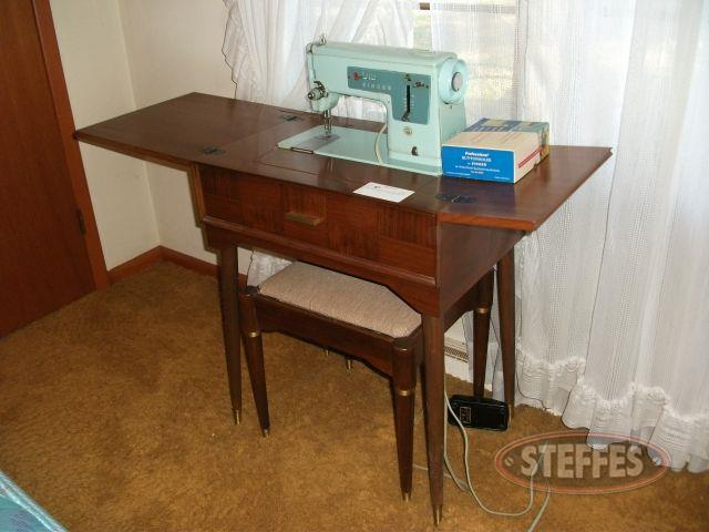 Singer Sewing Machine in Cabinet - Bench Seat_2.jpg