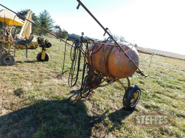 200 gal. pull type sprayer cart
