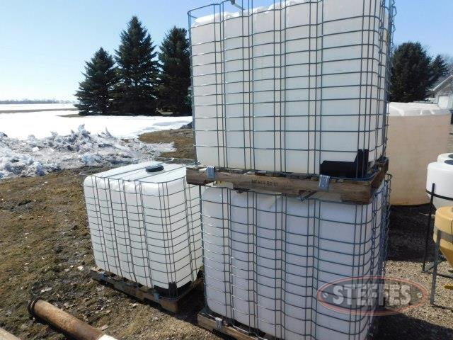 (3) 260 Gal. chemical totes