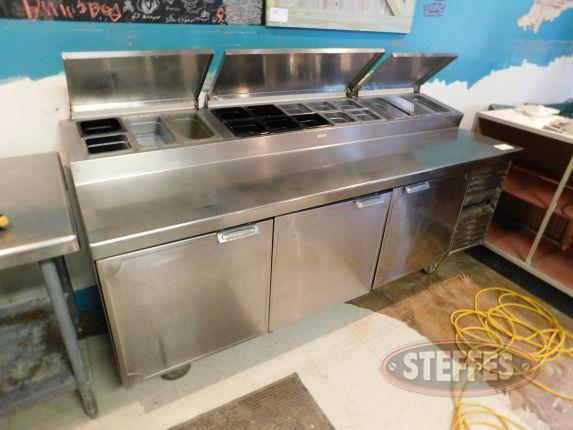 Stainless steel refrigerated prep table