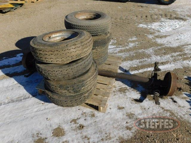Trailer house axle,