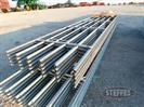 (10) 20' 6 Bar Continuous Fence Panels (X-MONEY) w/ clips & connections, (NEW)
