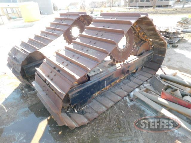 Set of steel tracks,