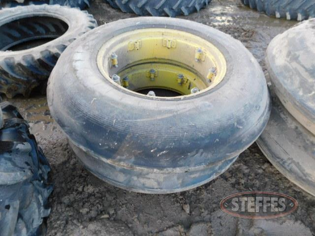 (2) 11.25-28 Super Single rib tires, _1.JPG