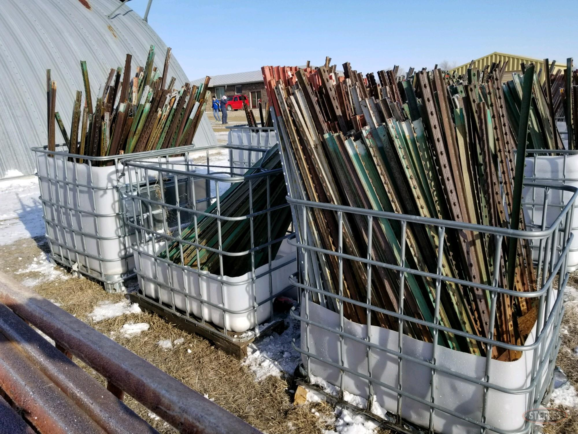 (3) Pallets of asst. steel fence posts