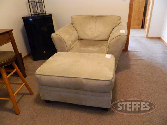 Microfiber chair & foot stool