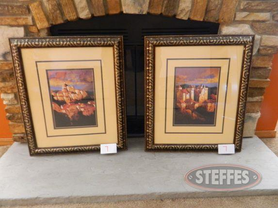 Wall art, set of 2, framed