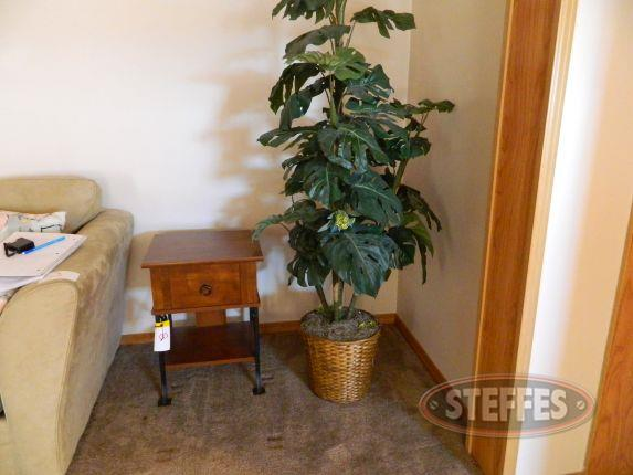 End table & artificial plant