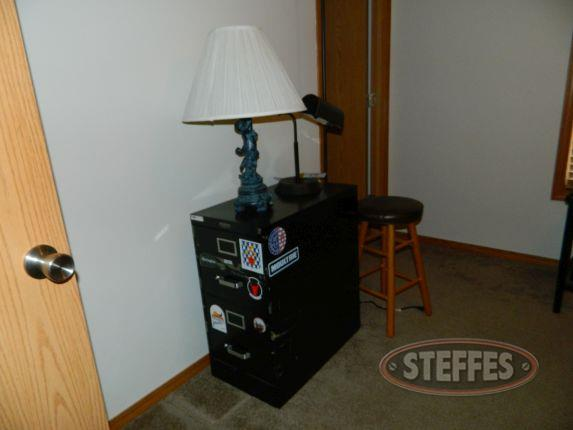 File cabinet, floor lamp, (2) lamps, - 2 bar stool_2.jpg