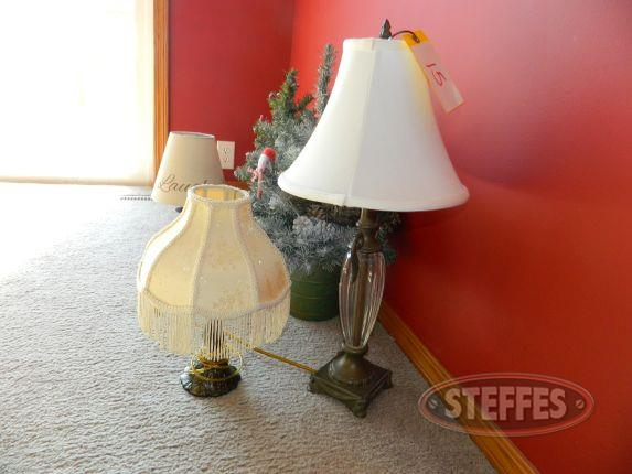 3 table lamps, 2 table top Christmas trees_2.jpg