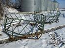 Assorted round bale feeders
