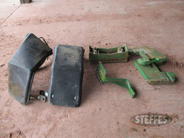 weight bracket, weights, step & fenders for JD 4440