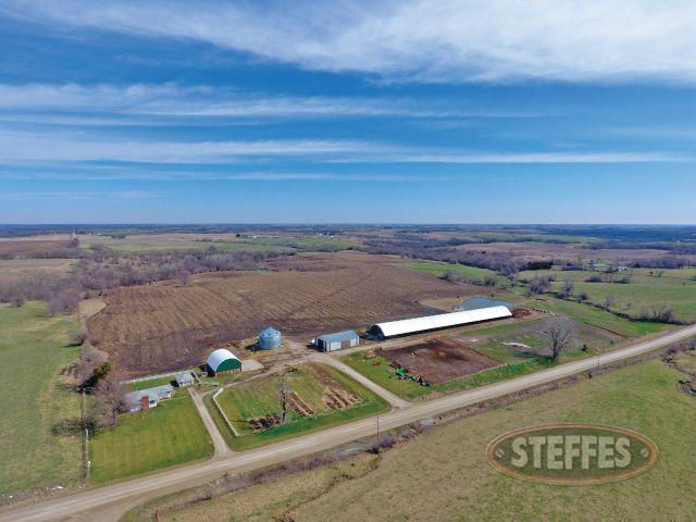 120 Acres – Selling in One Tract 40'x365' Hoop Cattle Building – 42'x63' Morton Building - House