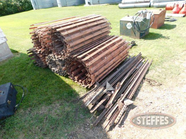 (5) rolls of wooden snow fence,