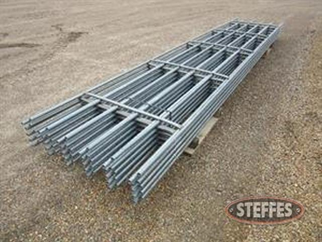 (10) continuous fence panels,