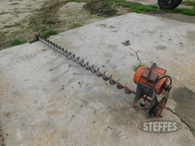Drag auger, electric motor