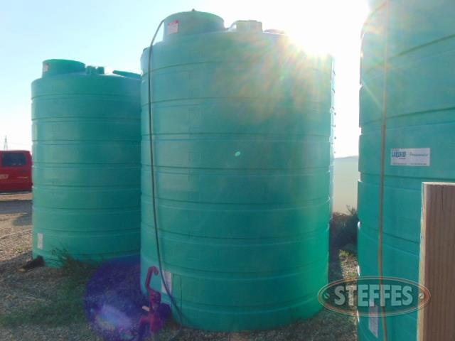 (2) Enduraplas liquid fert. poly tanks,  3,000 gal.,