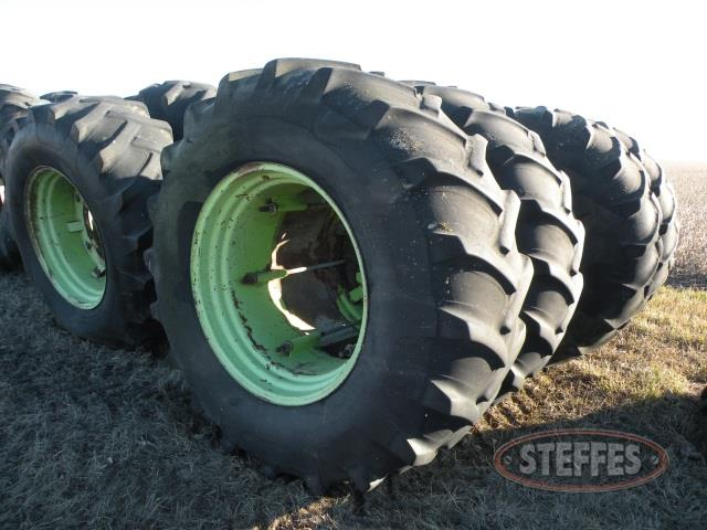 (8) 23.1-34 tires & rims from Steiger tractor