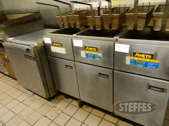 "Anets 2 basket gas fryer, 15½""x27½""x36"""