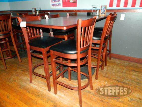 High top table with (6) high top padded stools_2.jpg