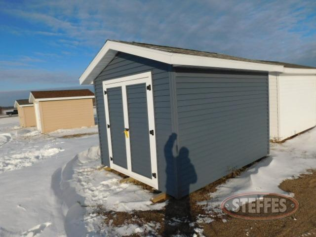 Shed, 10'x12', blue, double doors