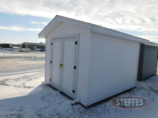 Shed, 10'x12', white, double doors