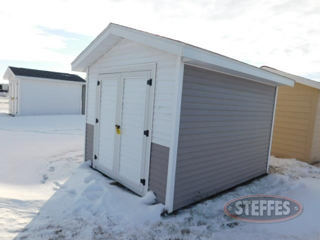Shed, 10'x12', gray, double doors