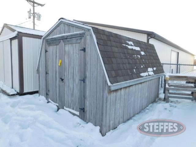Wood shed, 10'x12', barn roof,