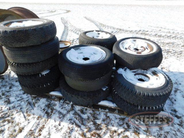 (17) assorted tires and rims