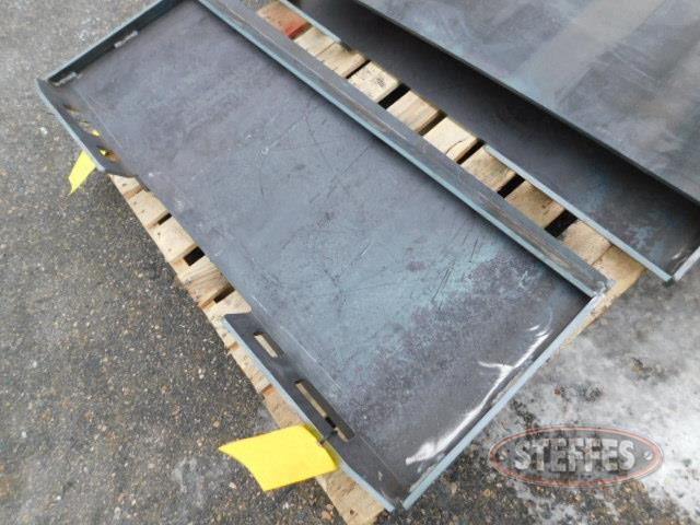 Solid weld-on quick tach plate, New,