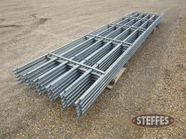 (10) Continuous fence panels, 20',