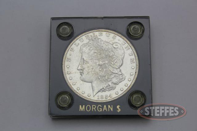1884-CC Morgan Silver Dollar Choice BU