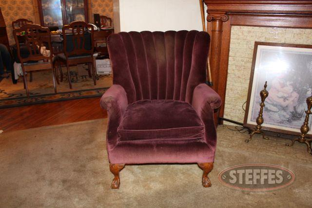 Velveteen Upholstered Chair