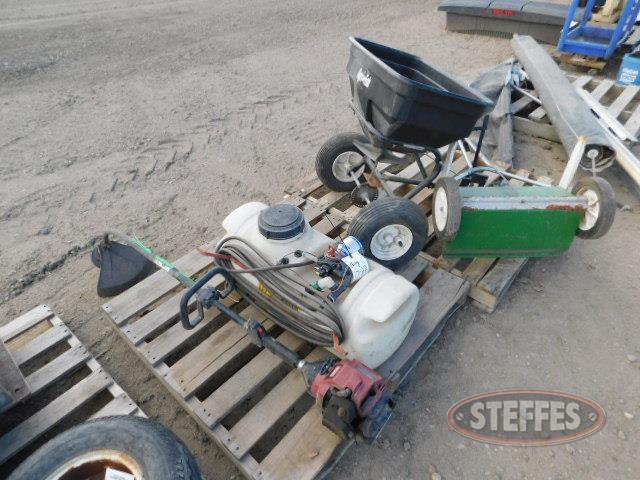 (2) yard spreaders- yard-ATV sprayer- _1.JPG