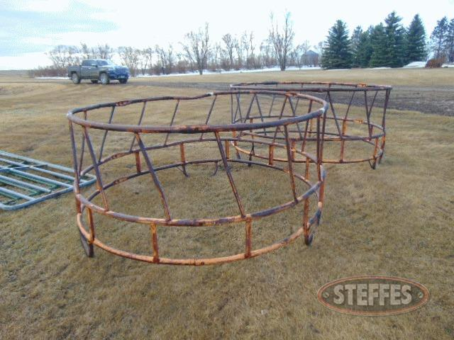 (2) round bale feeders
