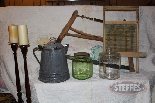 Candle-sticks--wash-board--enamel-coffee-pot--vintage-jar--and-primitive-bow-saw_2.jpg