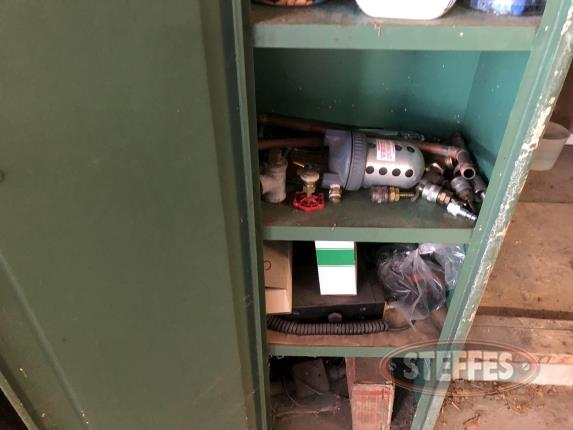 Air Hose Reel, Air Hose, and Cabinet and Contents