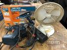 (2) Black and Decker Drills and Fan