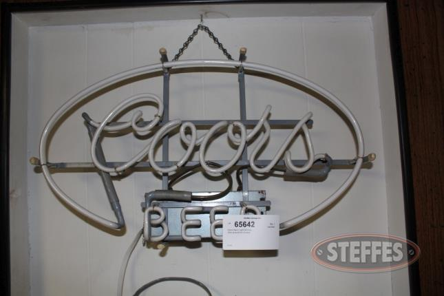 Coors Neon Lighted Sign