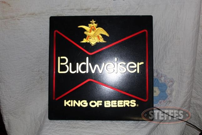 Budweiser King of Beers Lighted Sign